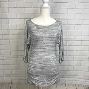 Banana Republic Gray Tunic Top Stretch Blouse
